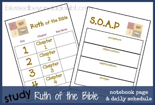 FREE Ruth of the Bible Daily schedule