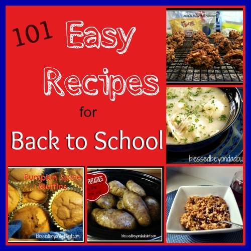 101 easy recipes back to school