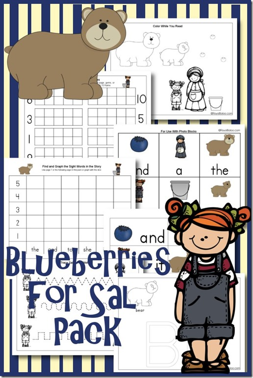 FREE Blueberries for Sal Printable Pack! - Blessed Beyond A Doubt