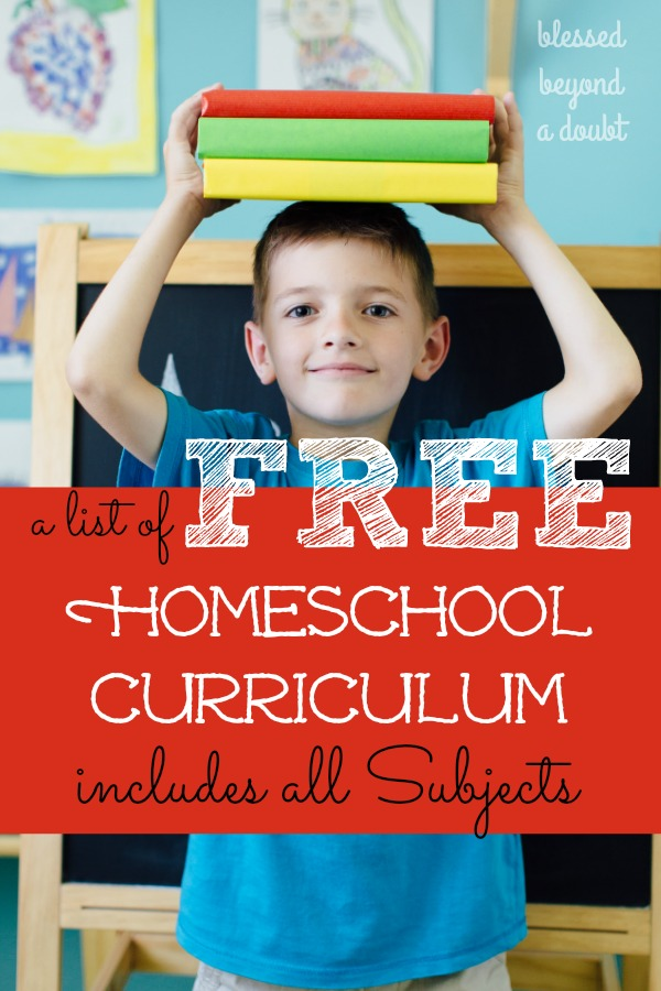 The Full List of Free Homeschool Curriculum that will Excite ...