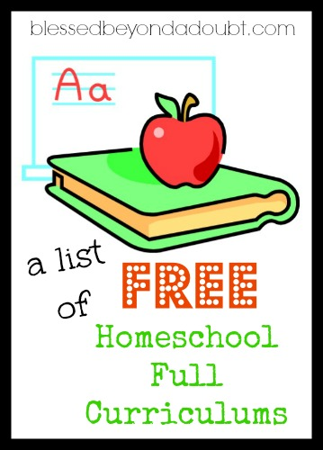 a list of FREE homeschool curriculums