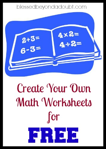 Create Your Own Math Worksheets : Free math worksheets generator sites blessed beyond a doubt
