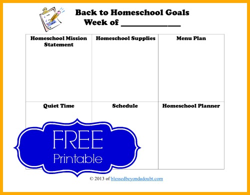Back to Homeschool sheet