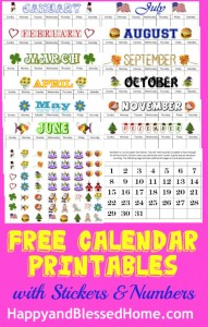 FREE Calendar and Weather Printables! - Blessed Beyond A Doubt