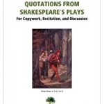 FREE Copywork: Quotations from Shakespeare's Plays!