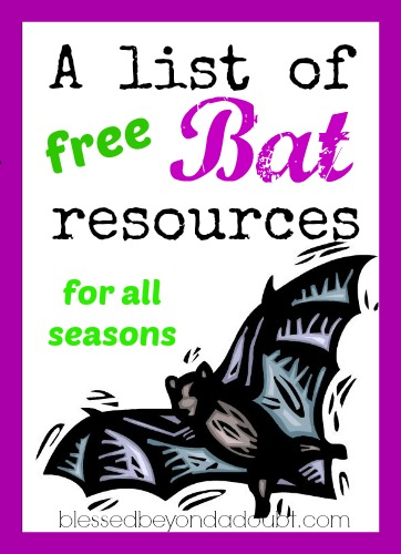 A List of FREE Bats Lesson Plans and Resources