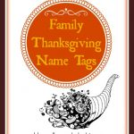 Printable Family Thanksgiving Name Tags