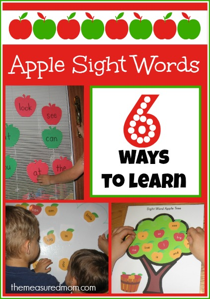 Grab these FREE Apple Sight words and other ideas@