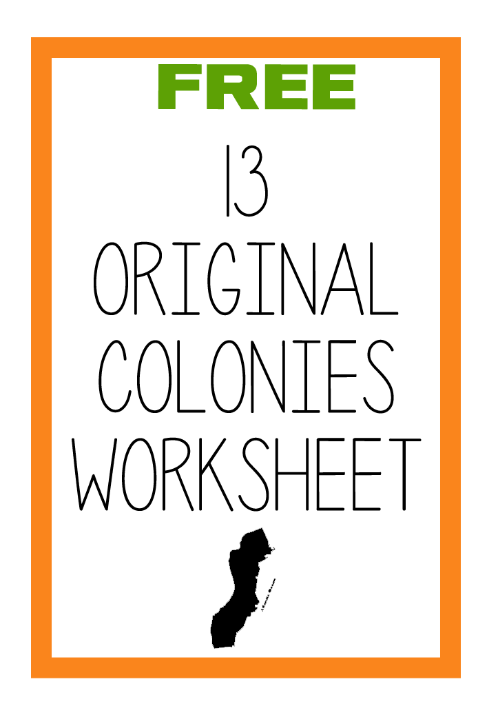 13 colonies worksheet free