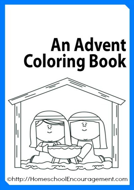 Free advent coloring book plus 100 39 s of advent coloring for Free advent calendar coloring pages