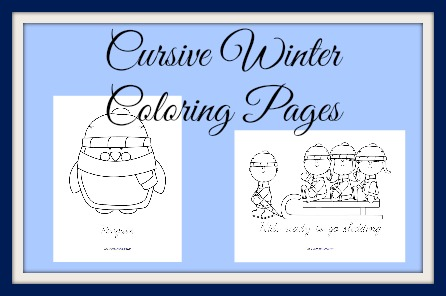 Cursive Coloring samples