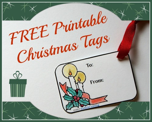 FREE Printable Christmas Tags