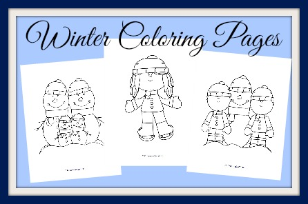 Winter Coloring samples