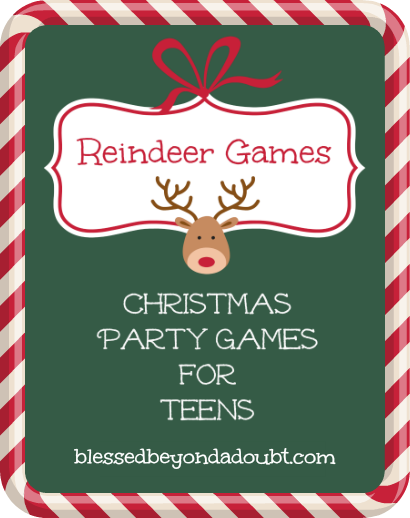 Printable Christmas Party Games for Teens|It's FREE!