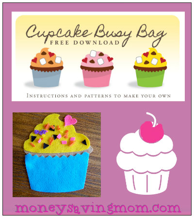 Cupcakes Are Always In Season MoneySavingMom Has Free Printable Templates For Making Your Own Felt Cupcake Busy Bag