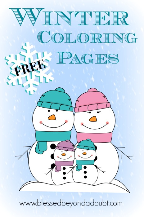 FREE Winter Coloring Pages for All Ages! - Blessed Beyond A Doubt