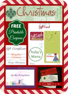 FREE printable Christmas coupons