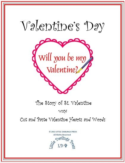 Be Sure To Have FUN With This Cut And Paste Valentineu0027s Hearts And Words.  Your Children Will Learn The Story Of St. Valentineu0027s.