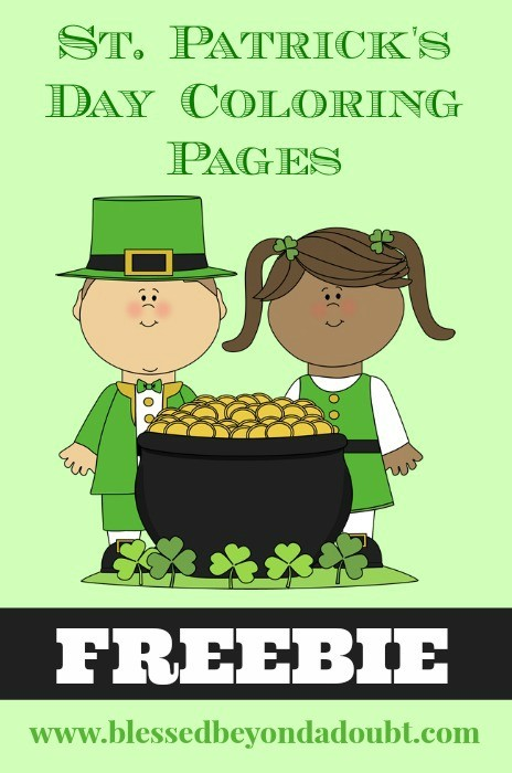 Free St Patrick S Day Coloring Pages For All Ages Blessed Beyond A