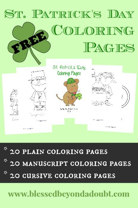 FREE St Patricks Day Coloring Pages2