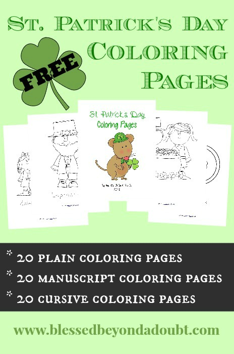 FREE St Patrick\'s Day Coloring Pages for All Ages - Blessed Beyond A ...