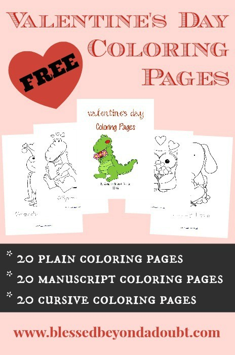 FREE Valentine\'s Day Coloring Pages for All Ages - Blessed ...