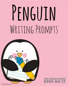 Penguin Writing Prompts from The Educators' Spin On It