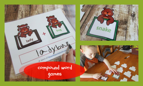 FUN Groundhog Day Compund Word Games and Ideas