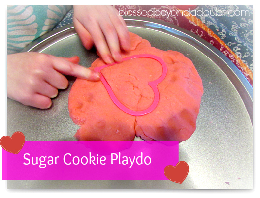 how to make playdo Valentine's Day Sugar Cookie Playdo FUN!