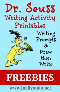 Dr. Seuss Writing Activity Printables Freebies
