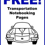 Transportation Notebooking Pages