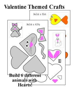 Heart Animal Crafts