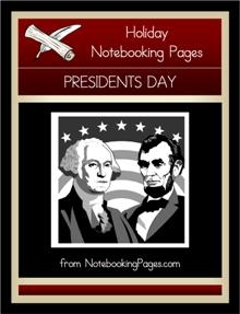 Presidents Notebooking Pages