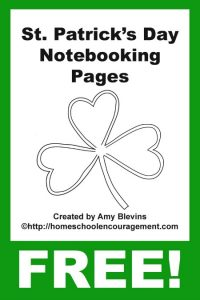 St. Patricks Day Notebooking Pages