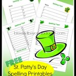 FREE St. Patrick's Day Spelling Printables
