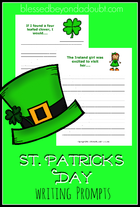 FREE St. Patrick's Day Writing Prompts! Let your children be creative with these FUN printables.