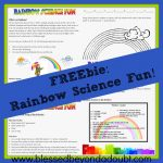 Here is a FREE Super FUN Rainbow Science Project!
