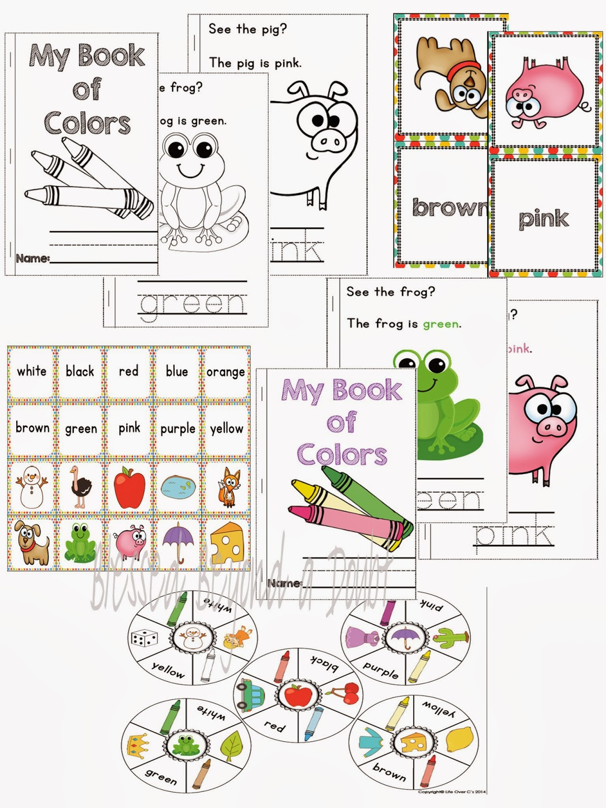 free preschool kindergarten color recognition pack and giveaway blessed beyond a doubt. Black Bedroom Furniture Sets. Home Design Ideas