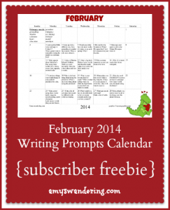 february-2014-writing-primpts-calendar