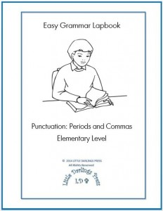 grammar lapbook periods and commas