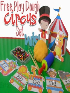 FREE Circus Play Dough Set with Recipe!
