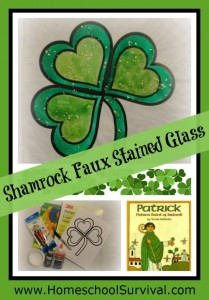 FREEbie Shamrock Faux Stained Glass Craft