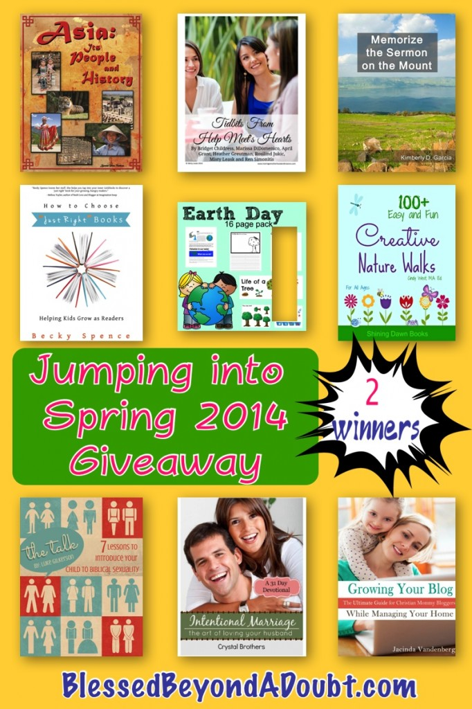 Jumping into Spring Giveaway