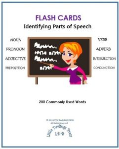 Parts of Speech Flash Cards