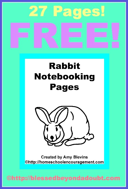 Free Printables Rabbit Notebooking Pages