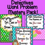 Spring Math Detectives Pack