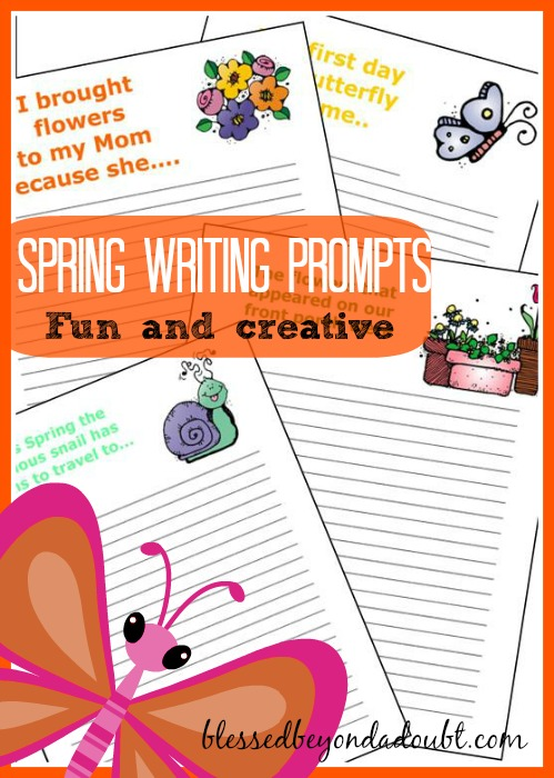 FREE Spring Writing Prompts!