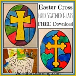 Easter Cross Faux Stained Glass