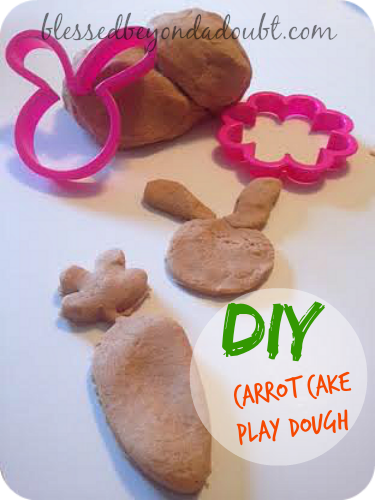 DIY Carrot Cake Smelly Play Dough