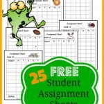 Grab these FREE Assignment Sheets! There are 25 to choose frim!
